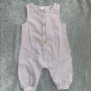 Adorable linen baby romper NWOT